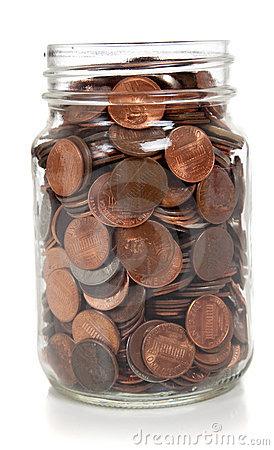 Jar of pennies clipart.