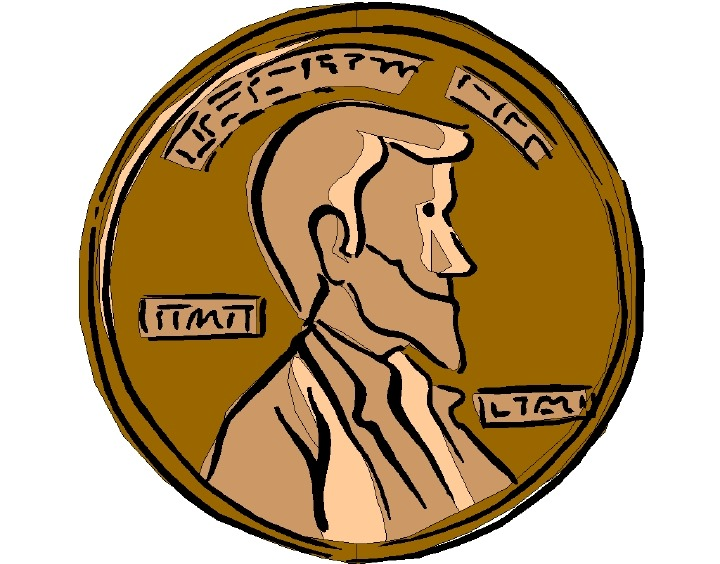 Lucky penny clipart.