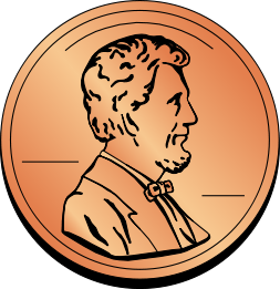 Pennies Clipart.