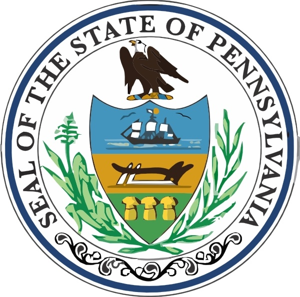 Pennsylvania State Seal clip art Free vector in Open office.