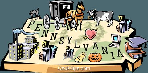 Pennsylvania clip art.