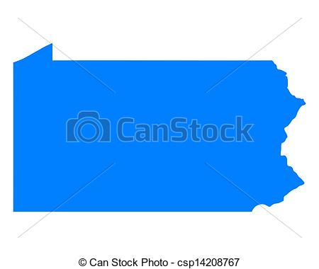 Clipart map pennsylvania.