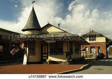 Picture of New Hope, PA, Pennsylvania, Historic Train Station.
