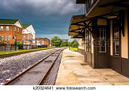 Stock Photography of The historic train station in Gettysburg.