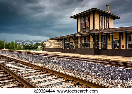 Stock Photo of The historic train station in Gettysburg.