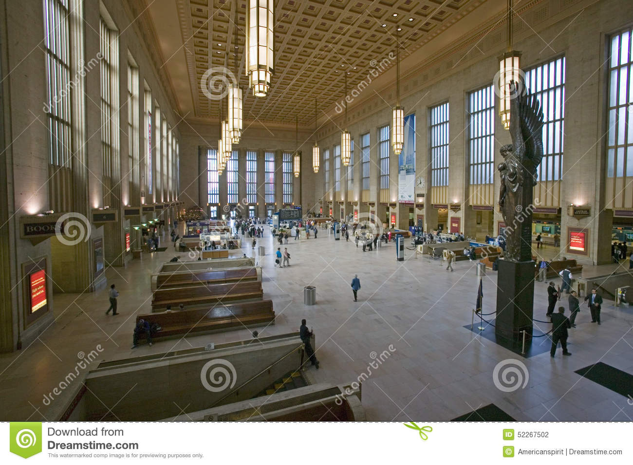 Interior View Of 30th Street Station, A National Register Of.