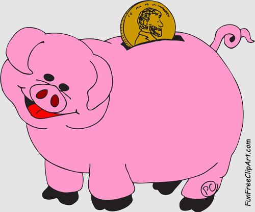 Piggy bank clip art clipart 5.