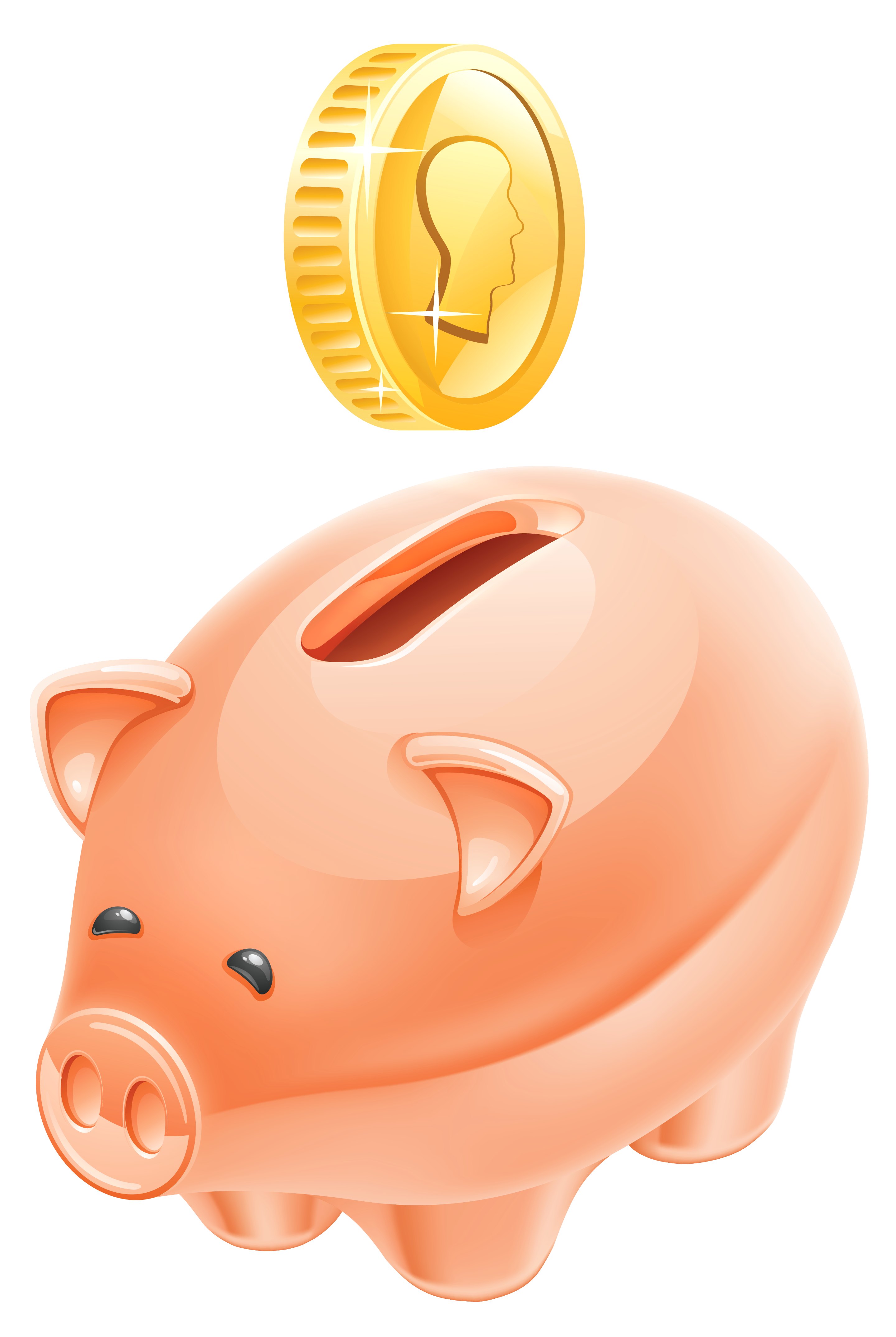 Penny bank clipart #13