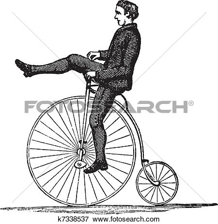 High wheeler clipart #1