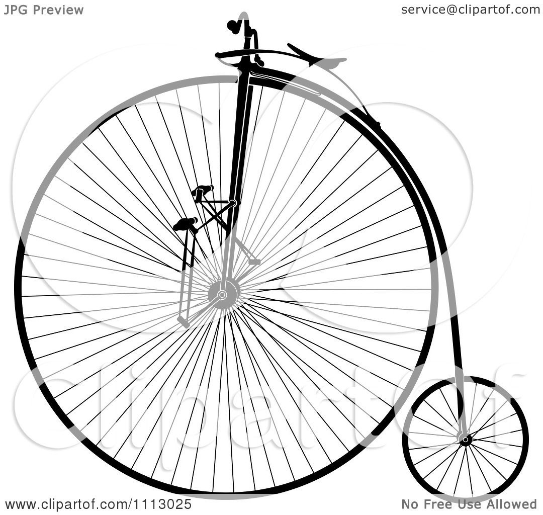 Clipart Vintage Penny Farthing Bike.