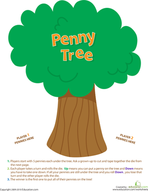 Penny Tree Game.