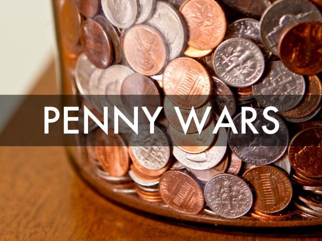 Penny War Clipart.