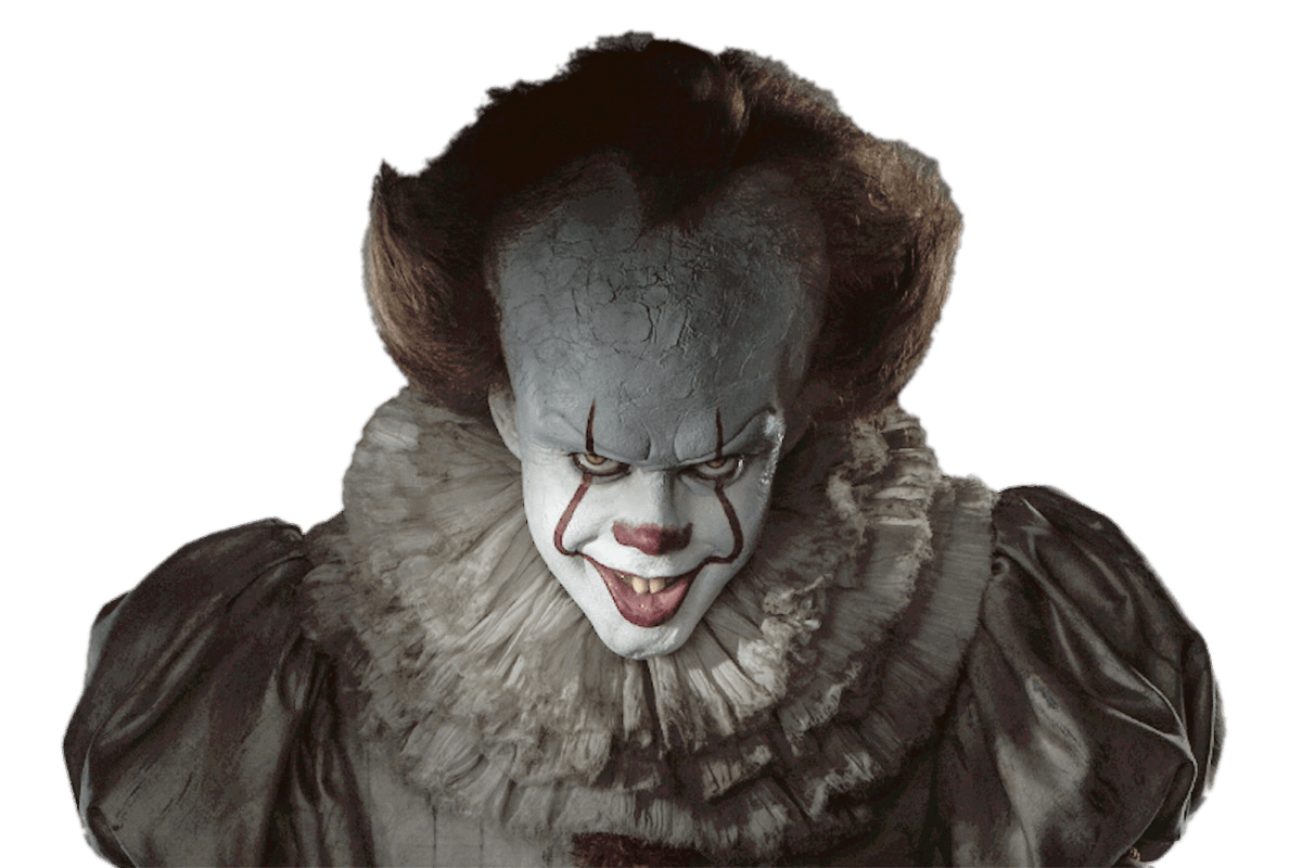 IT Pennywise Close Up transparent PNG.