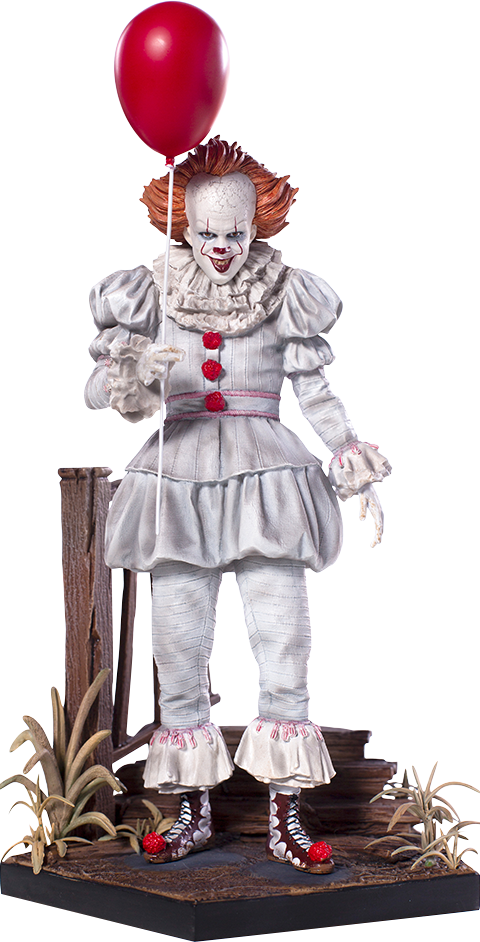 It Pennywise Deluxe Statue by Iron Studios.