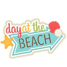 Scrapbook titles, At the beach and The beach on Pinterest.