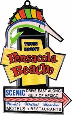 Pensacola Beach Animated Neon Christmas Ornament Model Railroad.