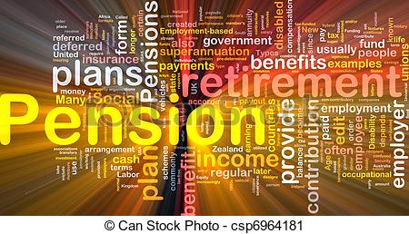 Clipart of Pension background concept glowing.
