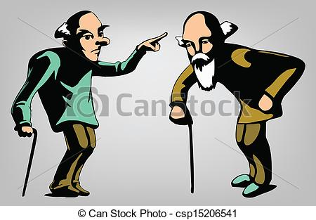 EPS Vector of old man.