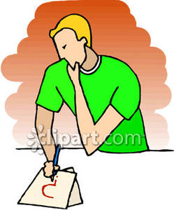 People pensive clipart.