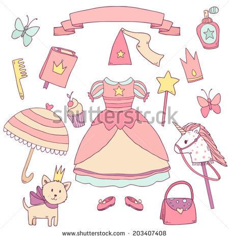 Girly Clip Art Stock Photos, Royalty.