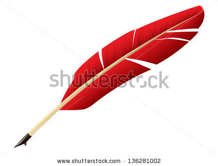 Red Feather Clipart Red Feather Pen Stock Vector #3NeWfa.