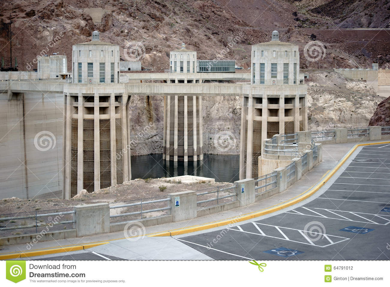 Penstock Towers At Hoover Dam Editorial Photography.