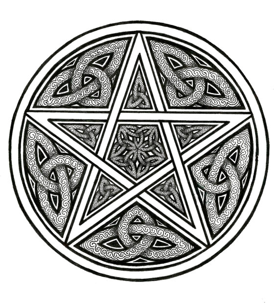 Gallery For > Wicca Pentacle Clipart.