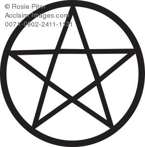 Clipart Illustration of a Pentagram.