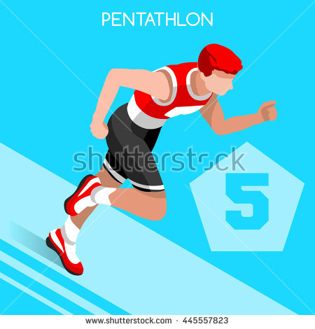 Pentathlon Stock Photos, Royalty.