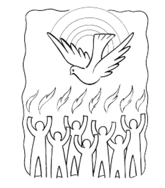 Pentecost clip art black and white clipart images gallery.