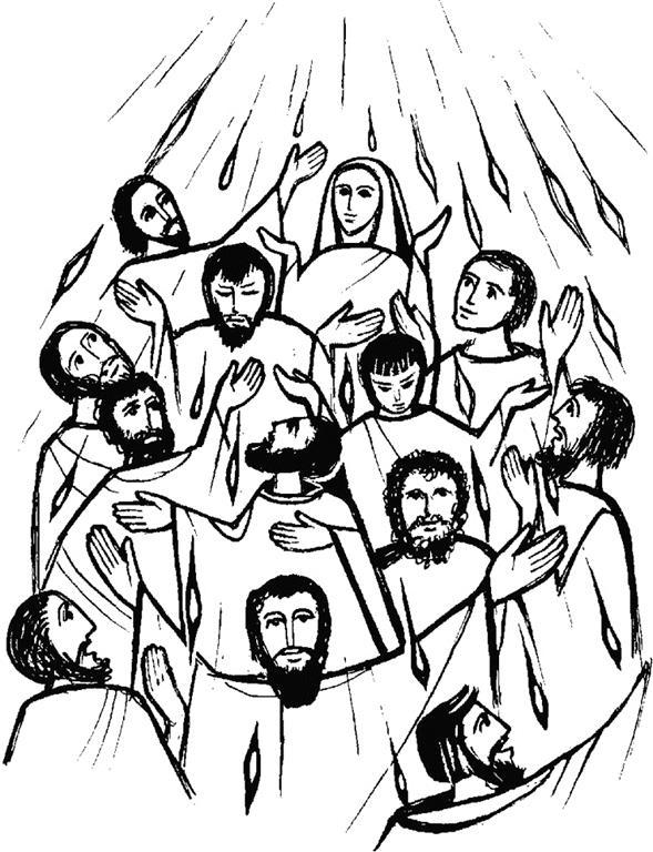 Pentecost Drawing.