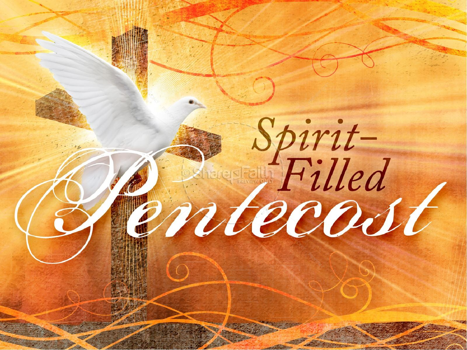 Pentecost Sunday PowerPoint Template.