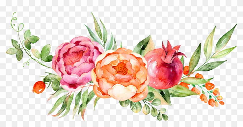 Watercolor Peonies Png.
