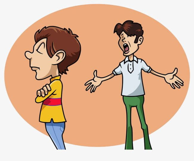 Two People Arguing PNG, Clipart, 2 People, Arguing Clipart.