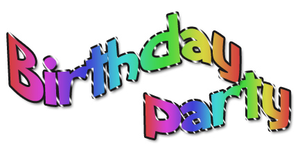 People At A Birthday Party Clipart.