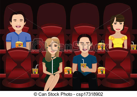 animated clipart of a movie theater.