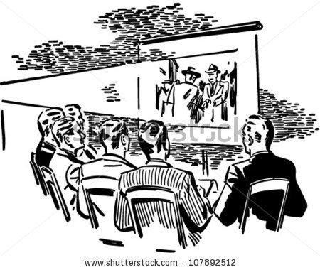 People Watching Movie Stock Vectors, Images & Vector Art.