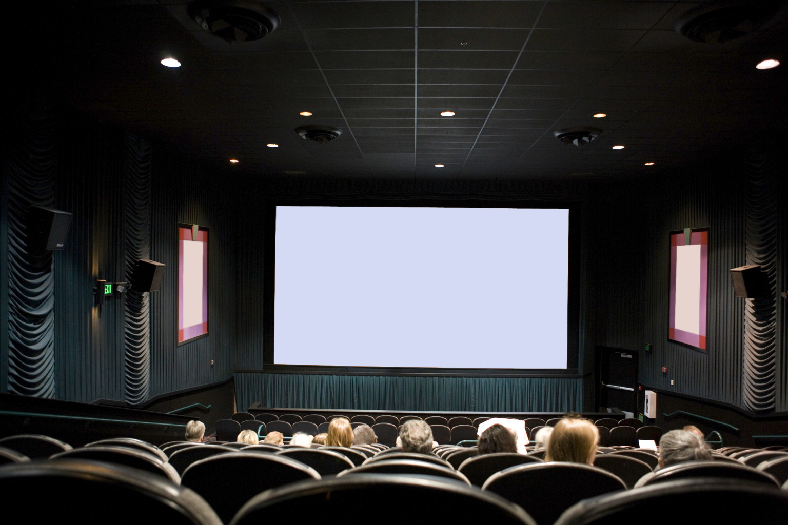 I dreamt I was in a crowded movie theater on opening night, I was.