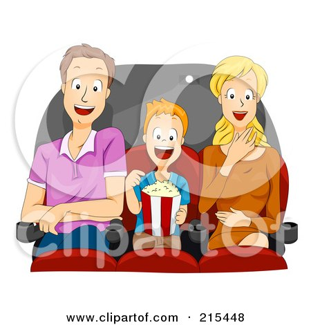Clipart Beautiful Black Woman Holding A Movie Ticket And Popcorn.