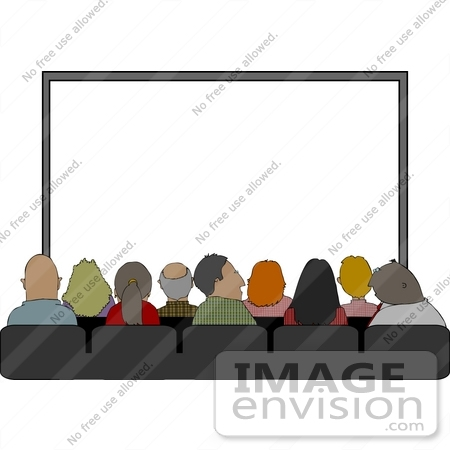 People Watching Movie Clipart.