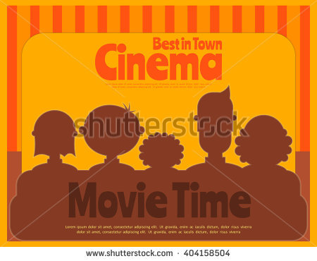 Family Movie Theater Stock Images, Royalty.