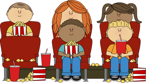 People Watching A Movie Clipart.