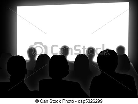 People Watching A Movie Clipart#1920904.