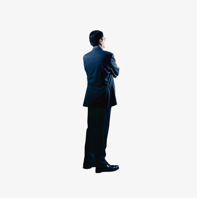 Business people back PNG clipart.