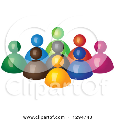 Clipart of a Social Network Globe with Business People and Icons.