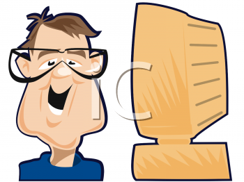 Man wearing glasses clipart.