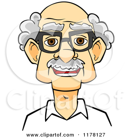 Old people with glasses clipart.