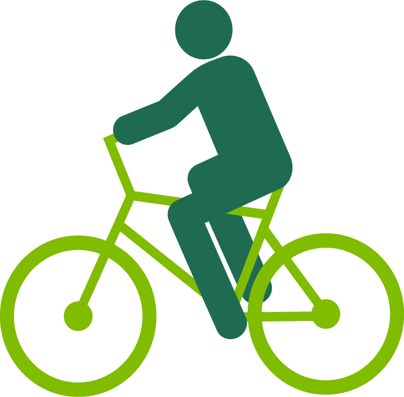 Graphic Of A Person Riding A Bike.