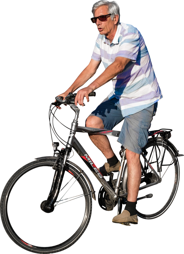 Cycling In The Sunset PNG Image.