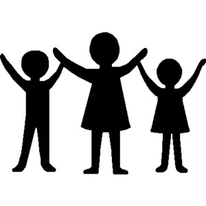 People clip art black and white free clipart images 5.